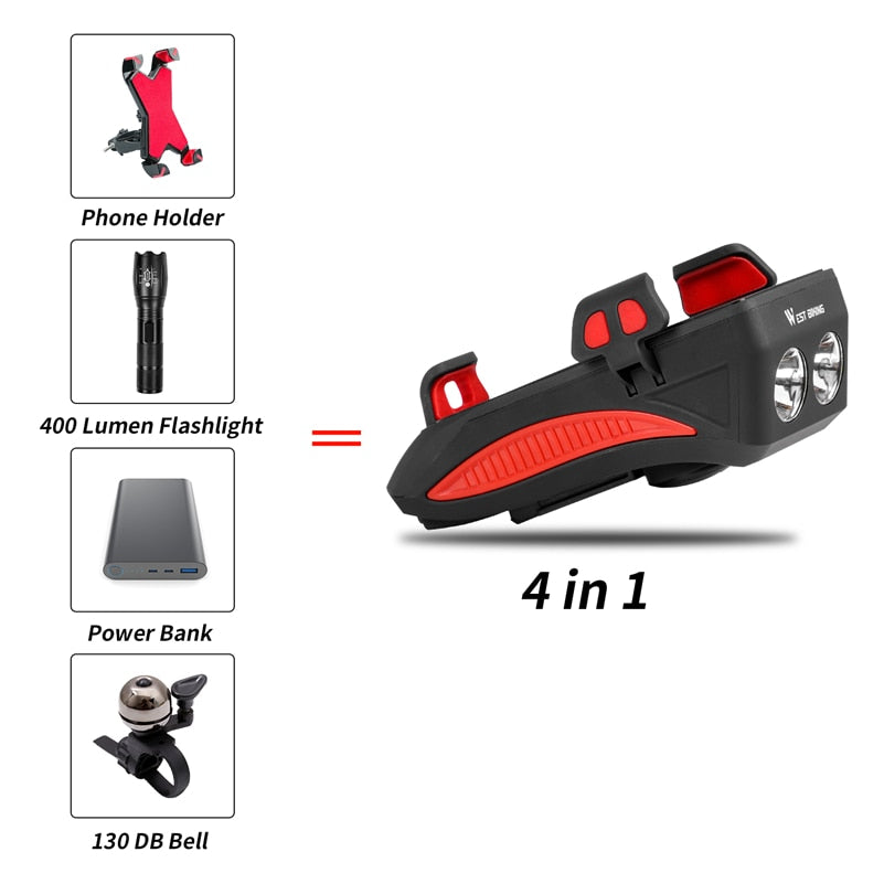 4-in-1 Multi-Function Flashlight