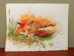 Sleepy Little Fox