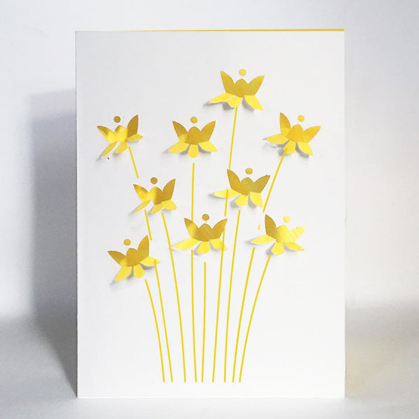 FOLD OUT DAFFODIL CARDS
