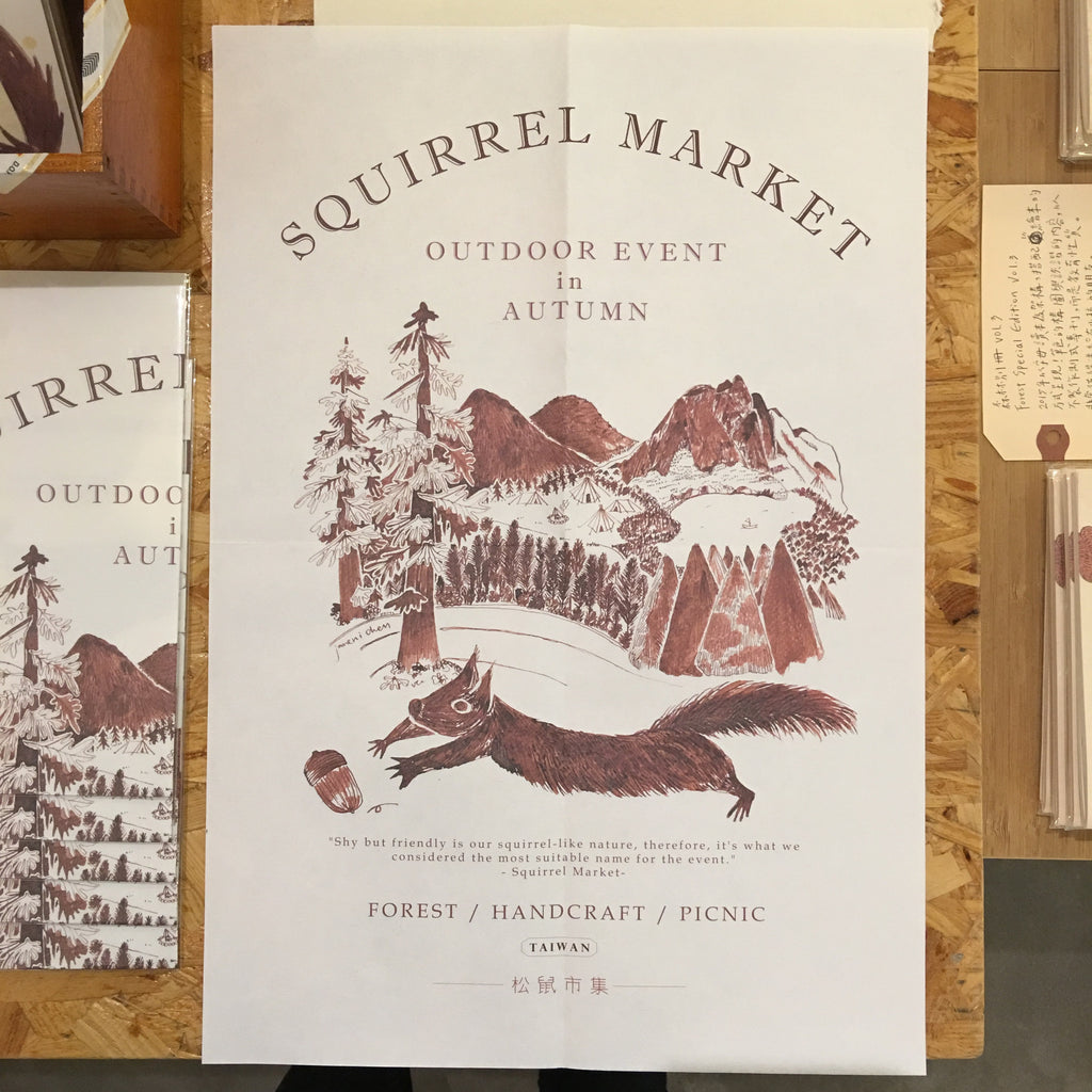 Squirrel Market Poster