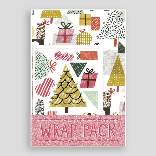 Trees and present wrap pack