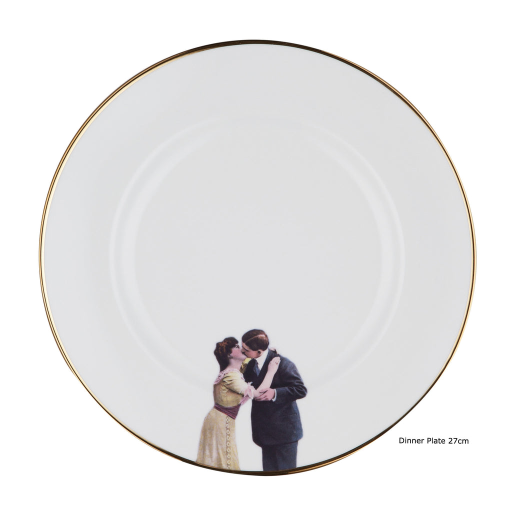 Kissing Couple Plate