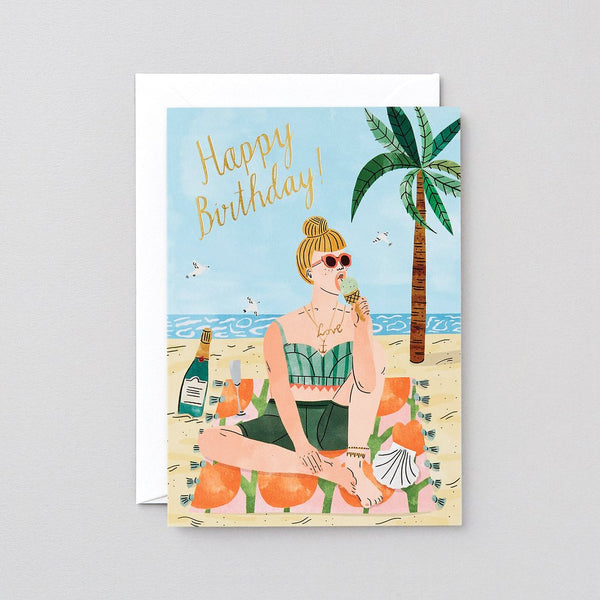 Beach Birthday Greetings Card