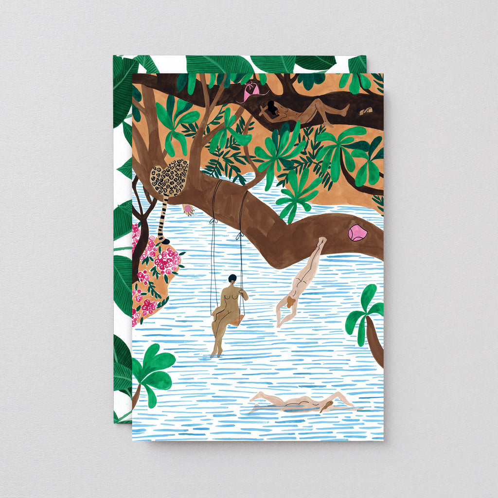 Jungle Beach Art Card