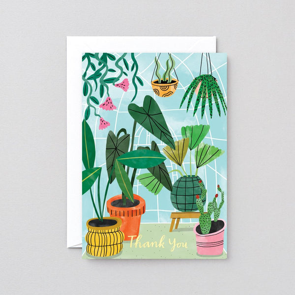 Thank you Plants Greetings Card