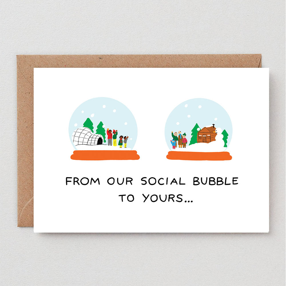 Social Bubble Greeting Card