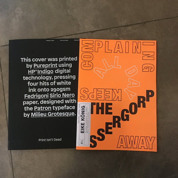 Print Isn't Dead | Element #003 + Posterzine Issue 1 Bundle