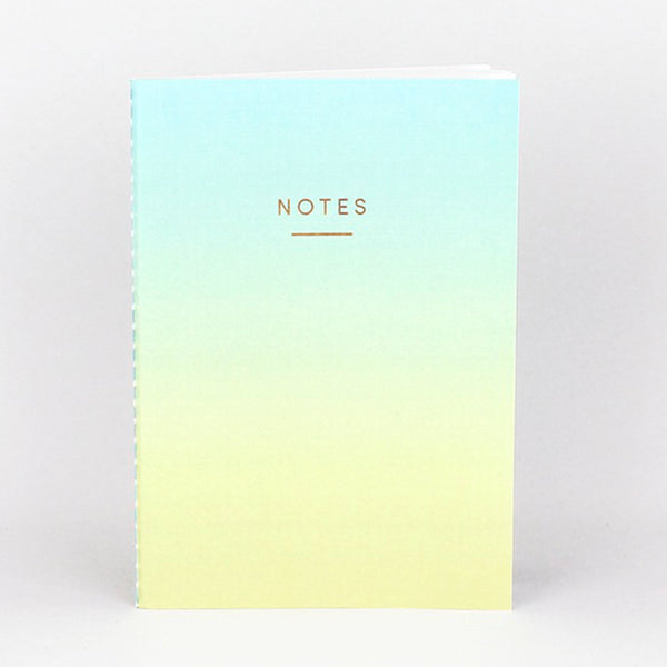 Ombre Notebook - Blue/Yellow (A5)