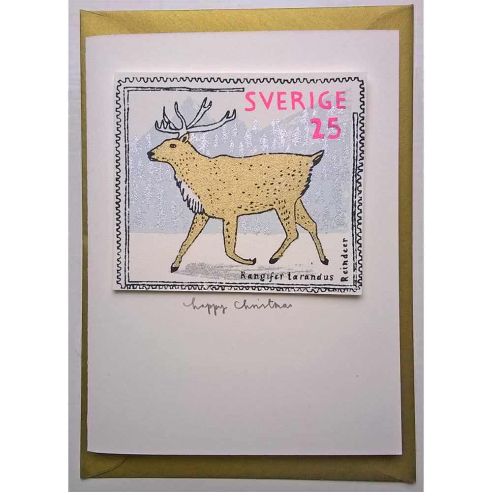 Reindeer Stamp Christmas Card