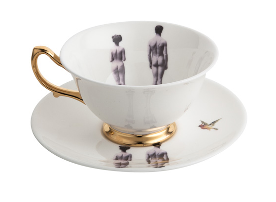 The Models Bone China Teacup and Saucer