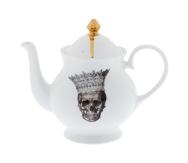 Skull in Crown Teapot