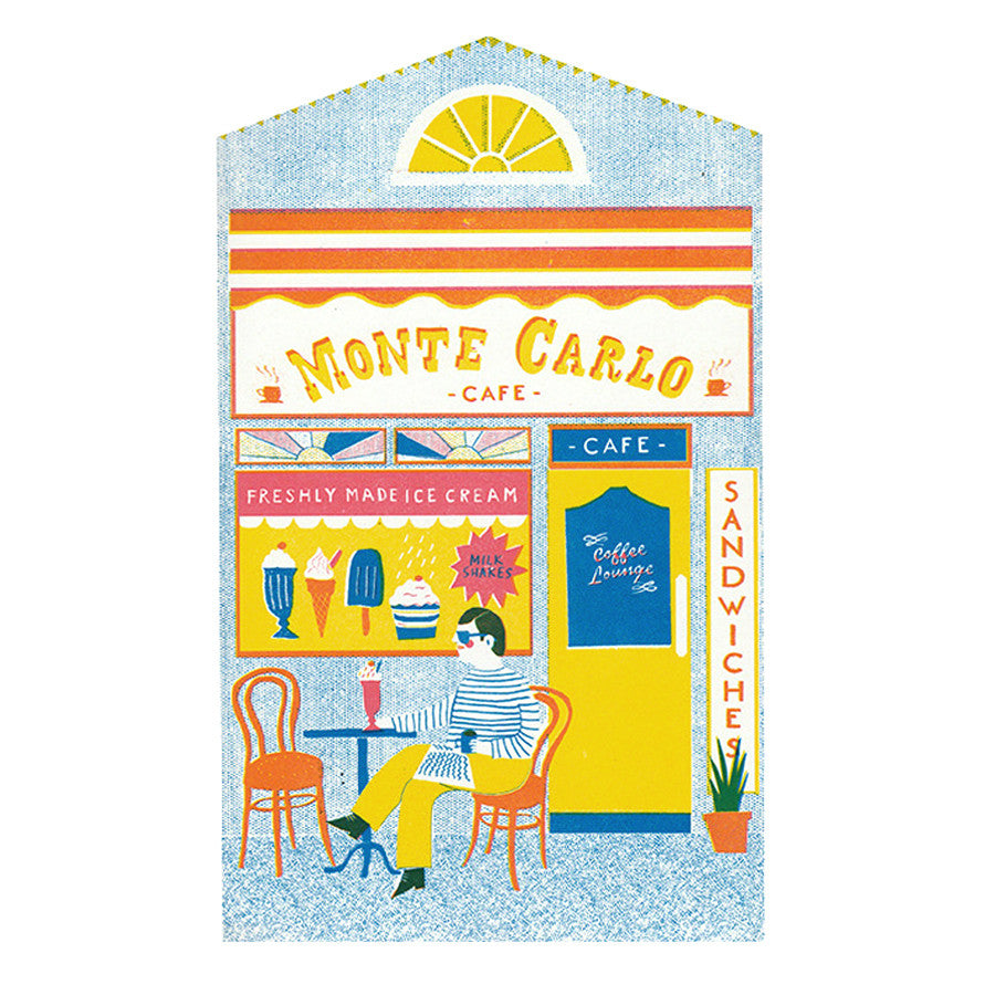 The Café Shop Front Greeting Card