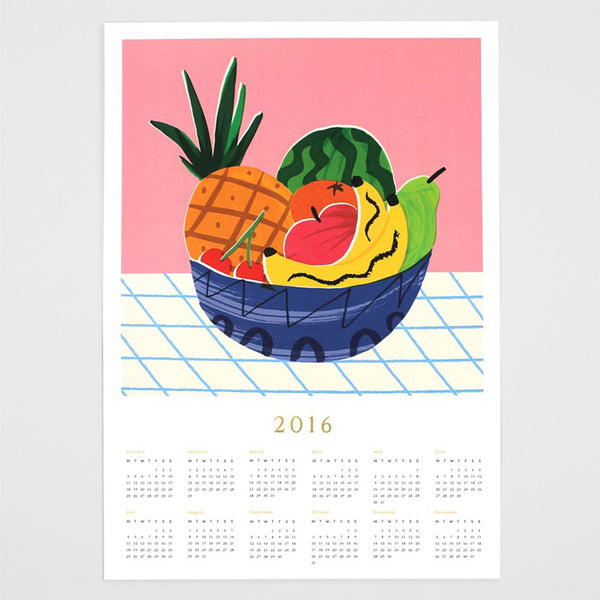 'Fruit Bowl' 2016 Calendar-Print