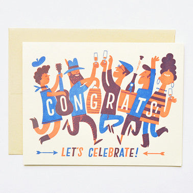 Congrats Crowd Greeting Card