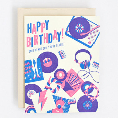 Vintage Vinyl Greeting Card