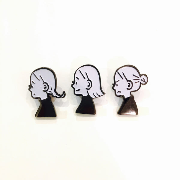 Girl Expression Metal Pins