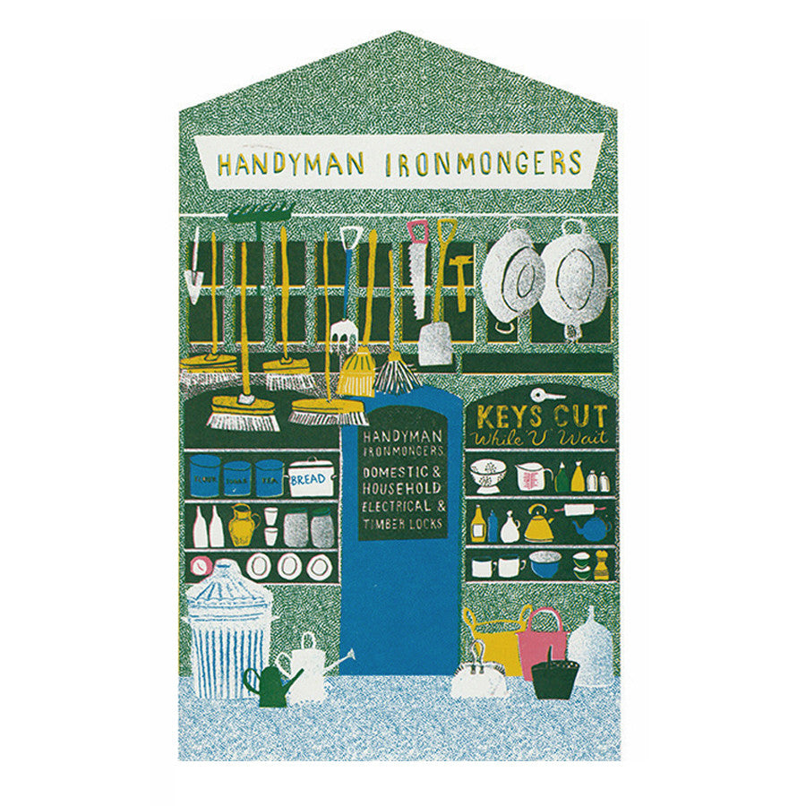 The Ironmongers Shop Front Greeting Card