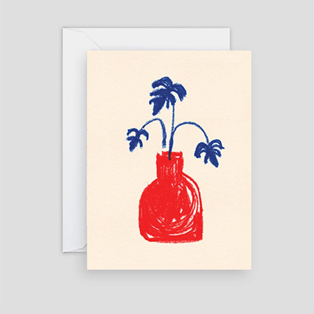 Red Vase Mini Card