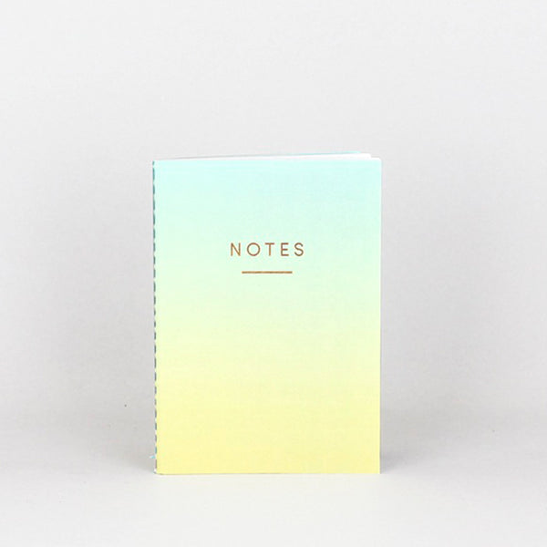 Mini Ombre Notebook - Blue/Yellow