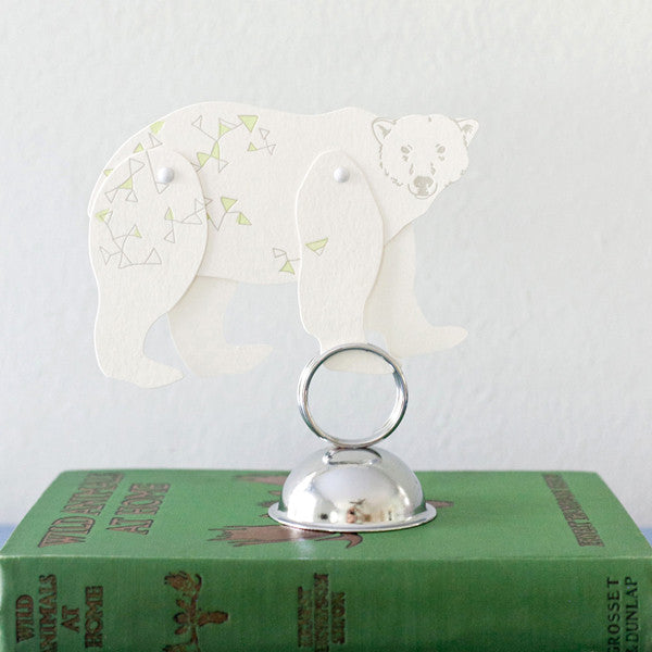 North Star Bear paper Toy