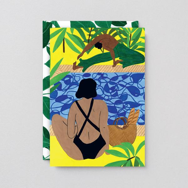 Yoga Pool Art Card