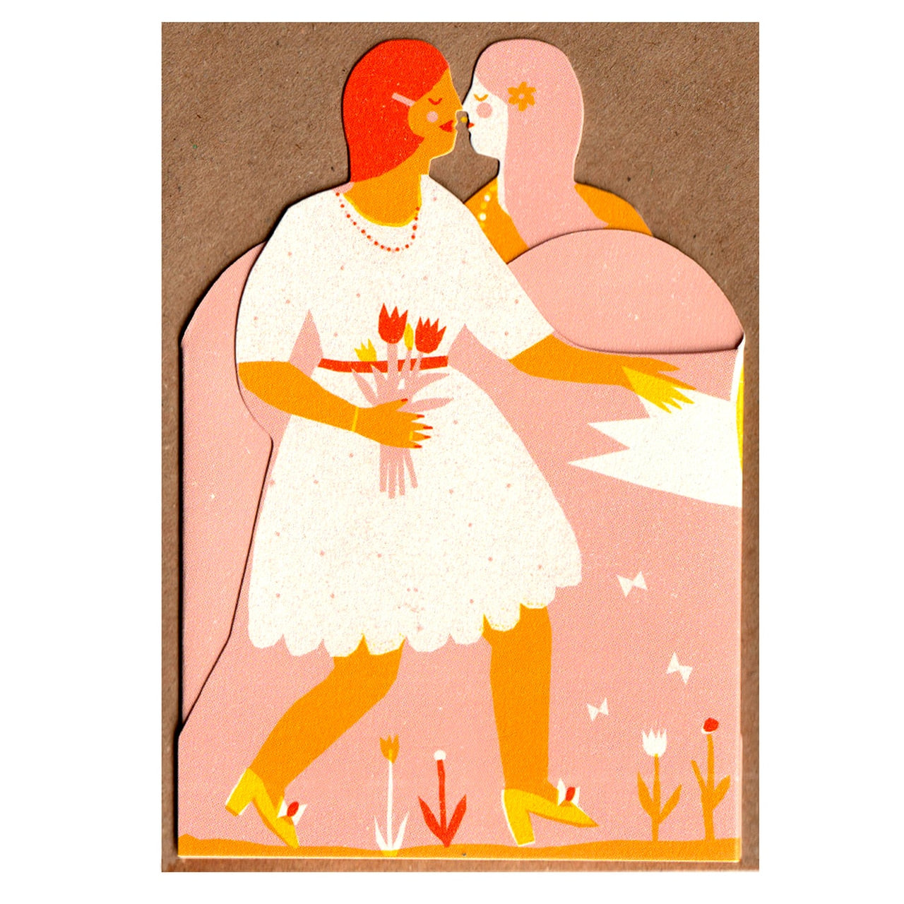 Two Women Concertina Heart Card