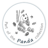 The Friendly Cat Fabrics - Part of the Panda collection - label