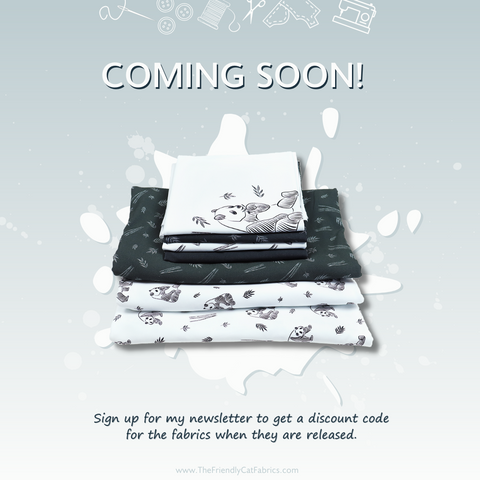 New fabric collection coming soon! With pandas!!!