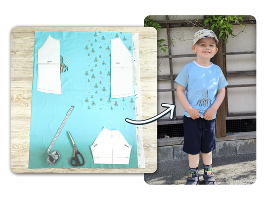 Sew a cute T-shirt with a small fabric panel from The Friendly Cat Fabrics - Fun & Friendly Fabrics