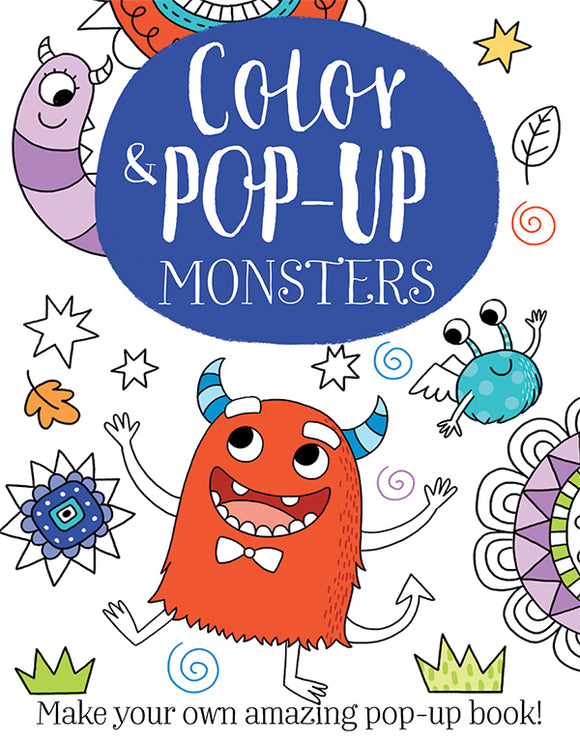 Usborne Color & Pop-Up Monsters 5Y+