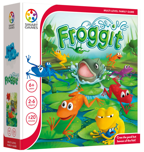 SmartGames Froggit - A Family Board Game for 2-6 Players Ages 6+