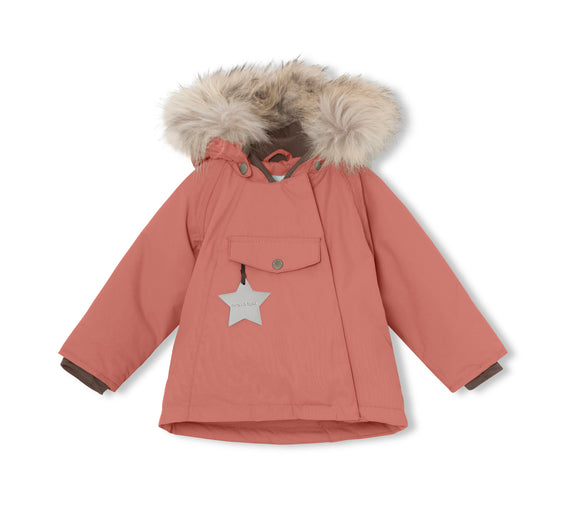 MINI A TURE Wang Fur Jacket in Withered Rose