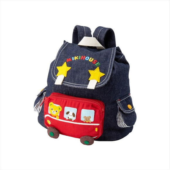 Miki House Denim Backpack