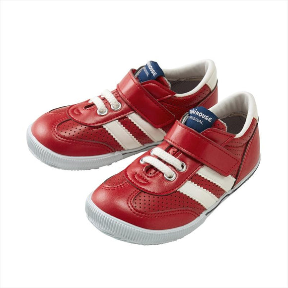 xMiki House Leather Sneaker Shoes in Red