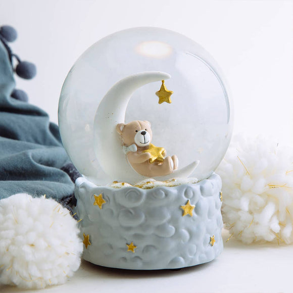 Goodnight Baby Bear Snowglobe - 120mm