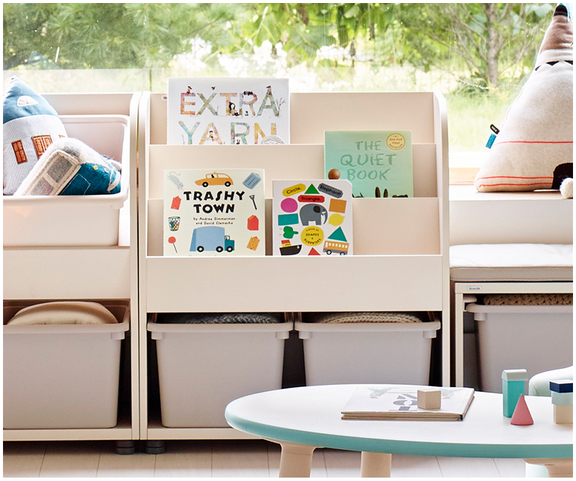 iloom Kids Bookshelf (with 2 Storage Bins) more colors available
