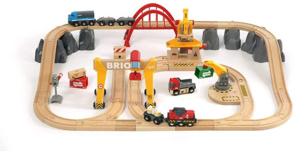 BRIO 33097 Cargo Railway Deluxe Set | 54 Piece Train Toy