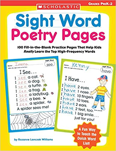 Scholastic Book - Sight Word Poetry Pages PreK-2