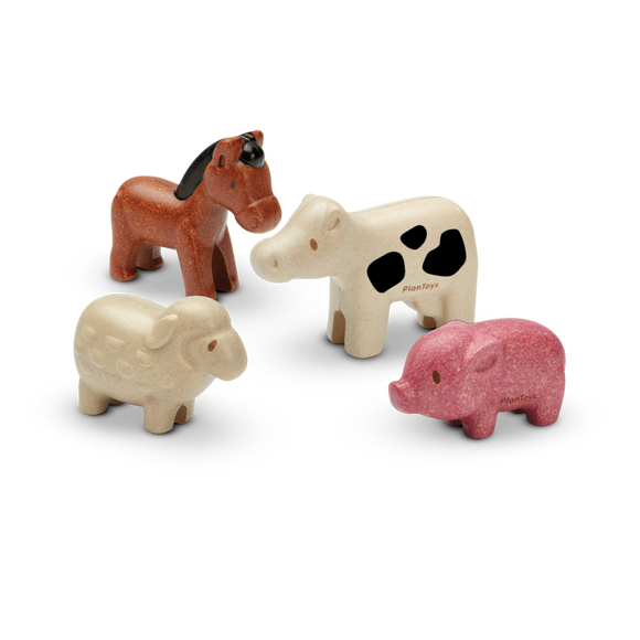 Plan Toys 6127 FARM ANIMALS SET 12M+