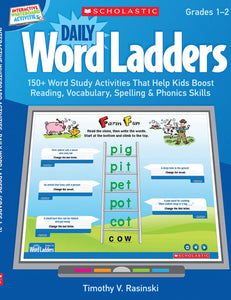 Scholastic Book - Interactive Whiteboard Activities on CD: Daily Word Ladders Grades 1-2