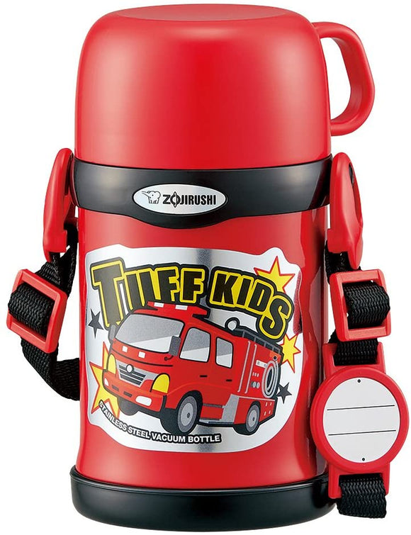 Zojirushi Kids Thermos Stainless Water Bottle 2-Way cup and straw in Red 450ml