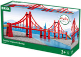 BRIO Double Suspension Bridge | 5 Piece Toy Train Accessory