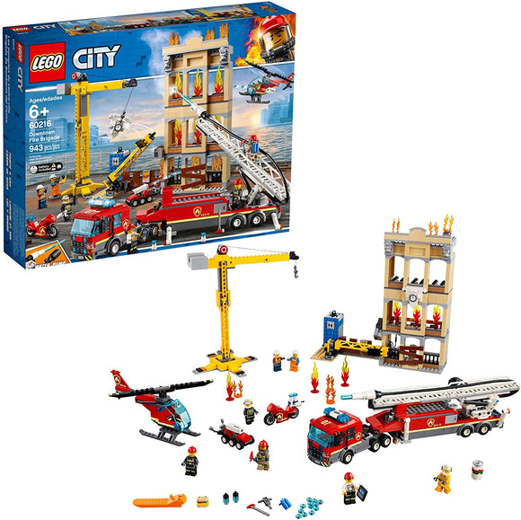 Lego City 60216 Downtown Fire Brigade 943 Pieces 6Y+