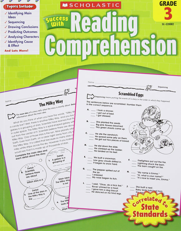 Scholastic Book - Reading Comprehension: Grade 3