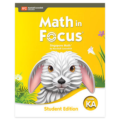 Math in Focus Student Edition Volume A (Grade K)