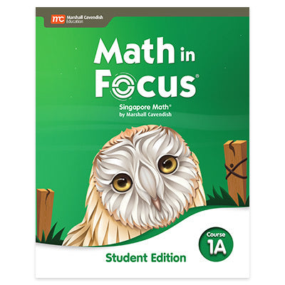 Math in Focus Grade 6 Student Edition Course 1A