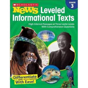 Scholastic Book - News Leveled Informational Texts Grade 3