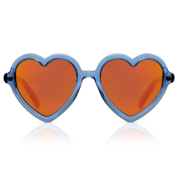 Sons + Daughters Lola Blue Jelly Mirror Sunglasses