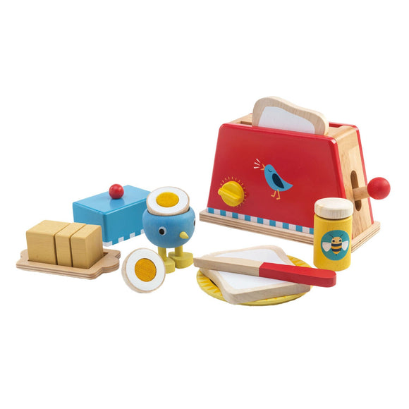 Tender Leaf Toys TL8221 Toaster and Egg Set