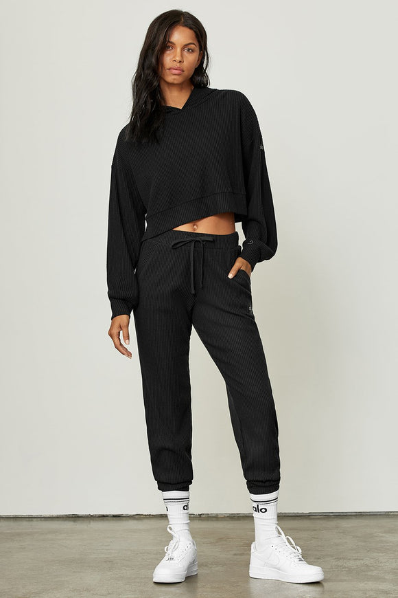 ~Alo Yoga W5784R MUSE SWEATPANT in Black